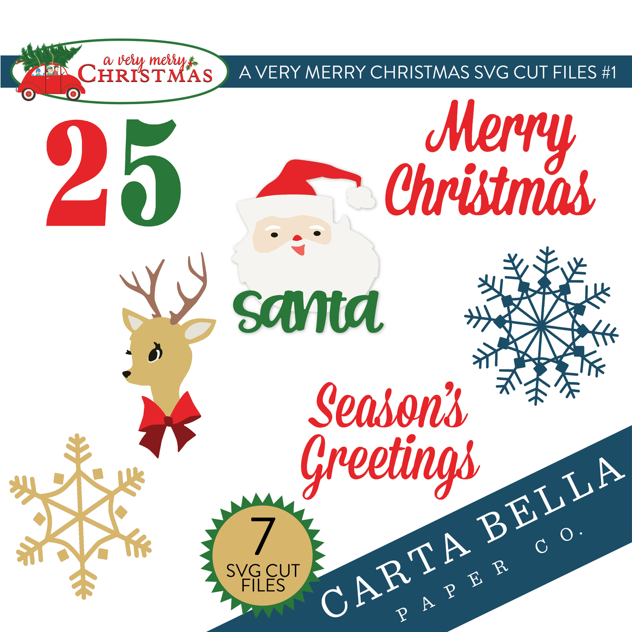 A Very Merry Christmas SVG Cut Files #1