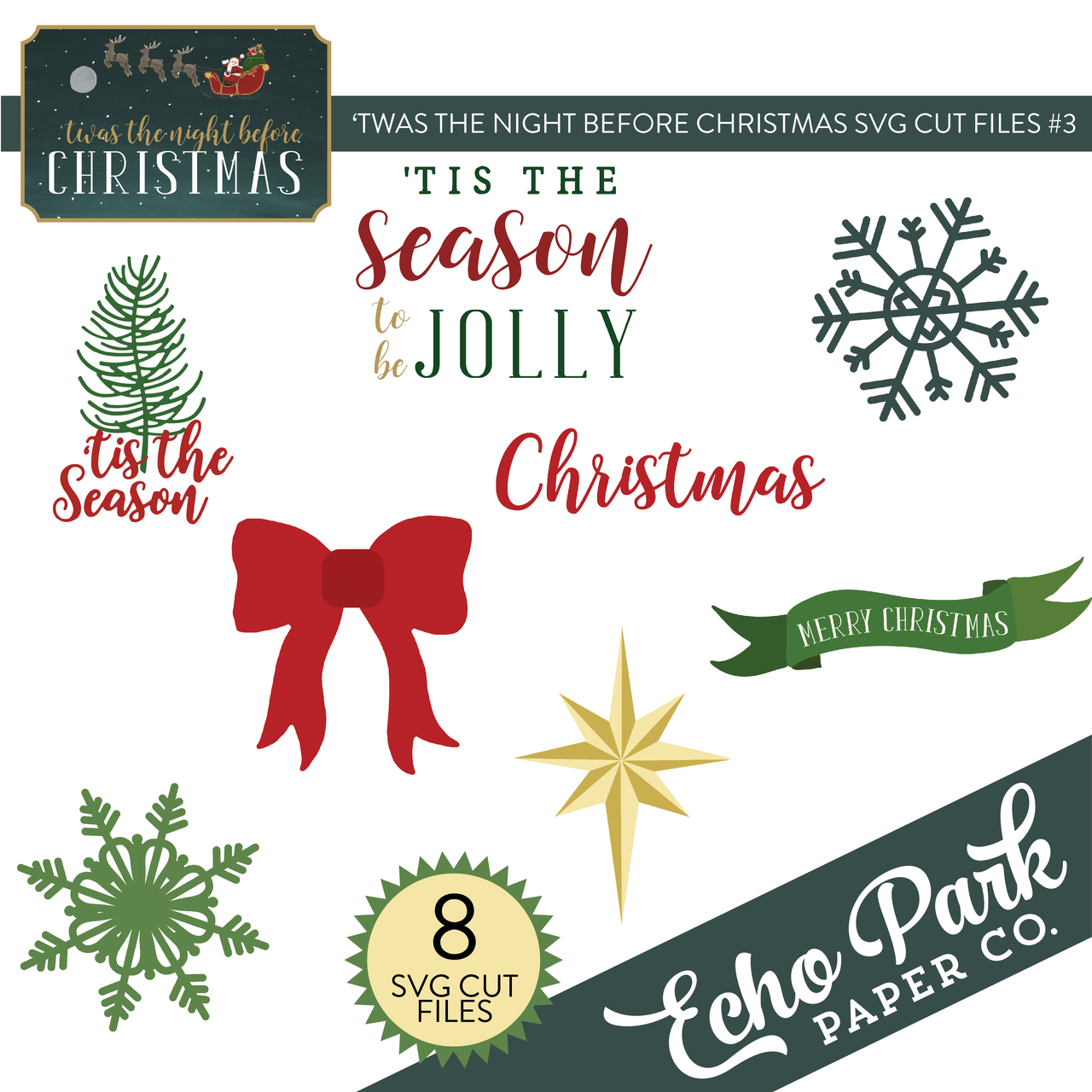 'Twas The Night Before Christmas SVG Cut Files #3