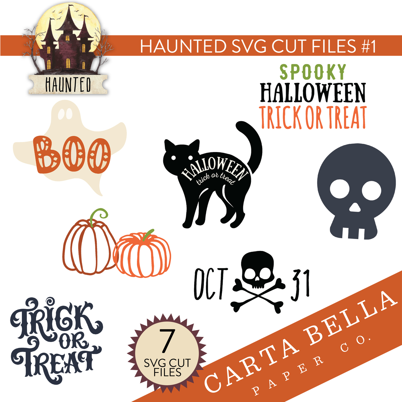 Haunted SVG Cut Files #1