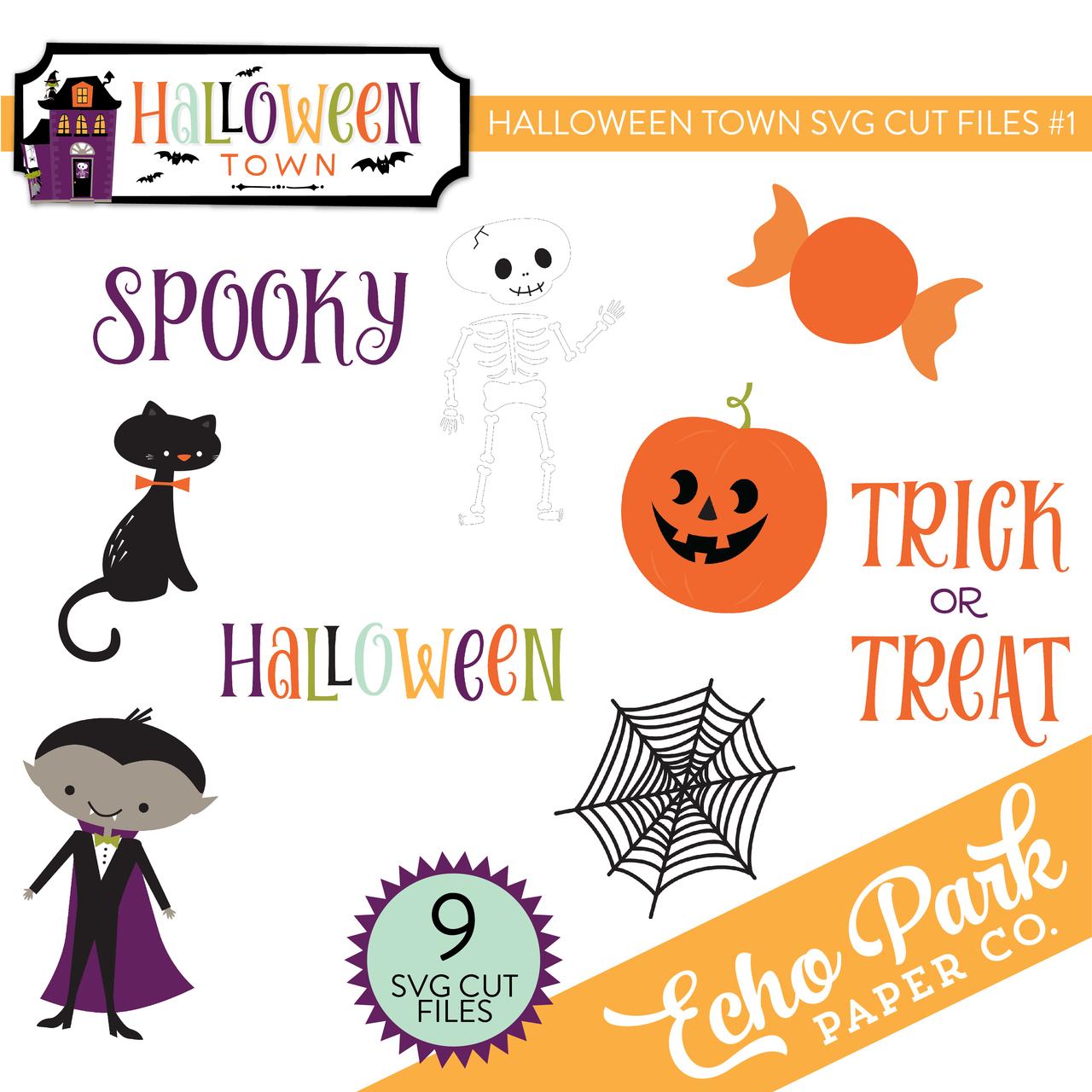 Halloween Town SVG Cut Files #1
