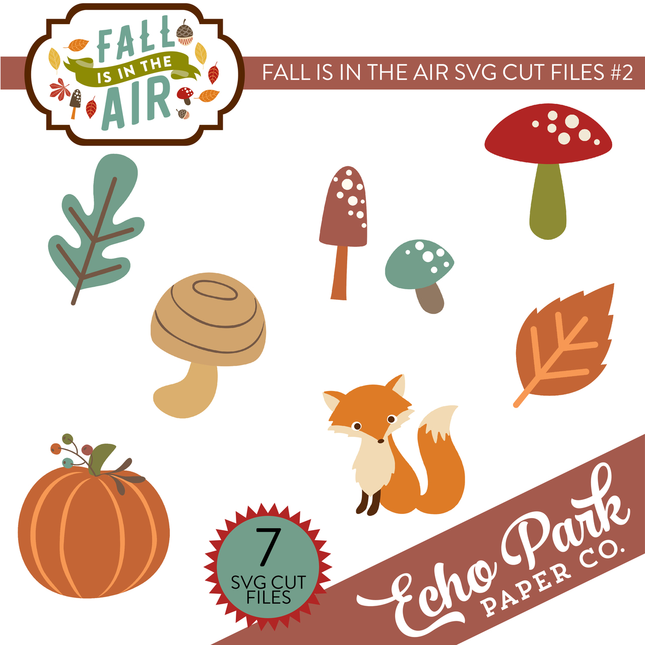 Fall Is In The Air SVG Cut Files #2