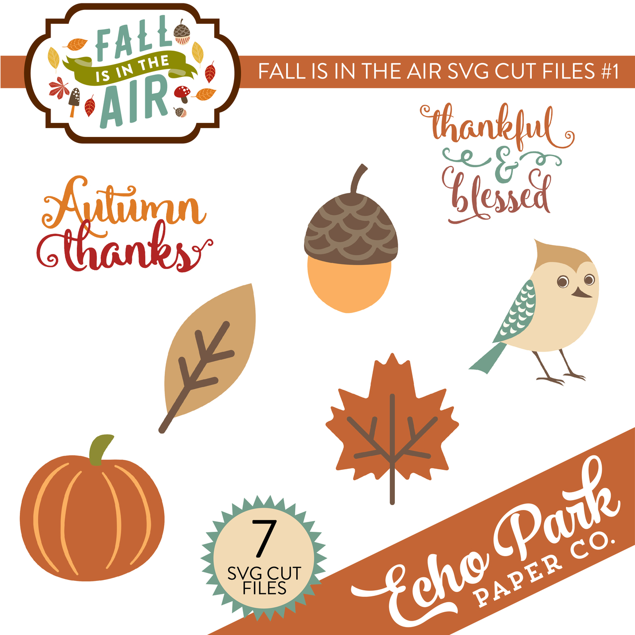 Fall Is In The Air SVG Cut Files #1