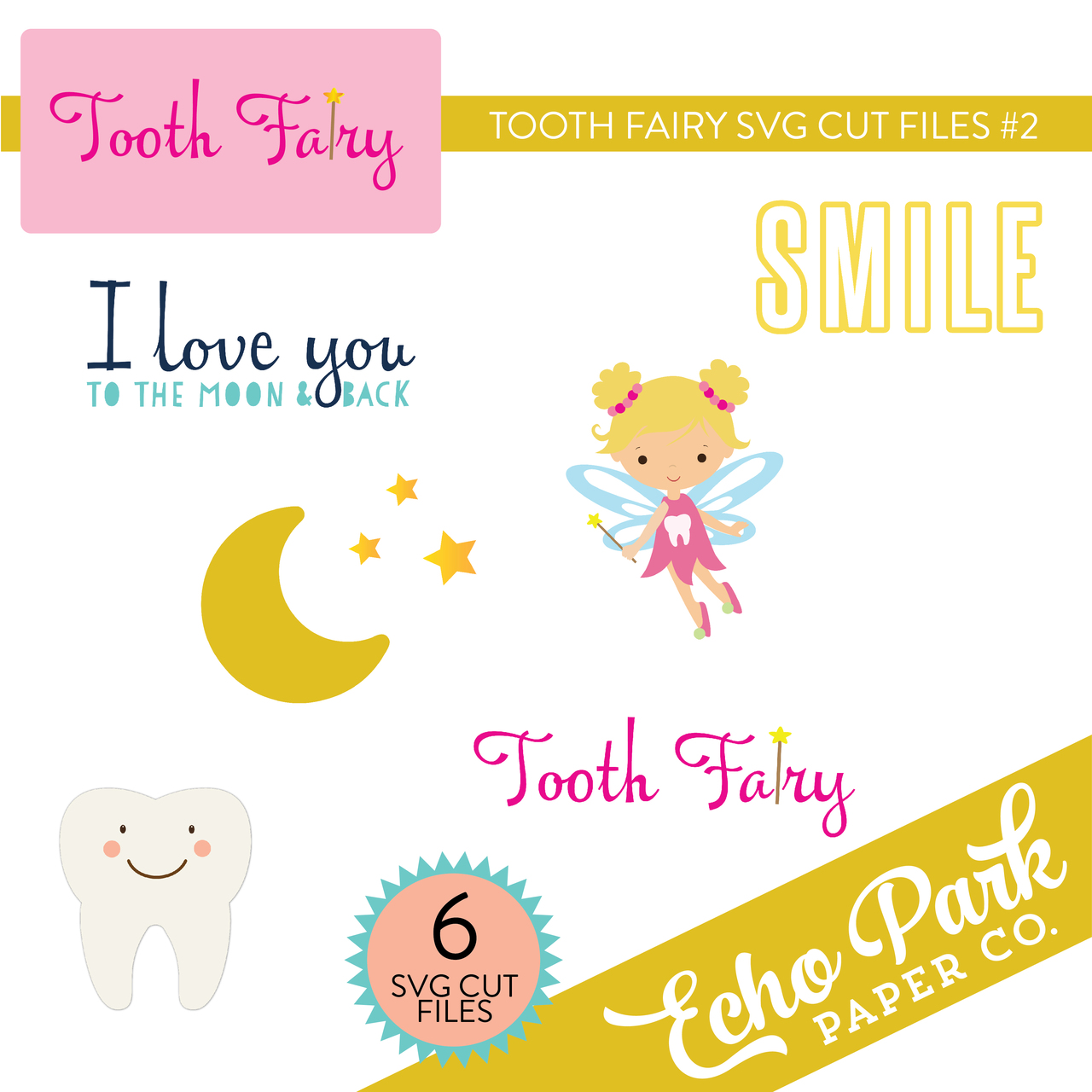 Tooth Fairy SVG Cut Files #2