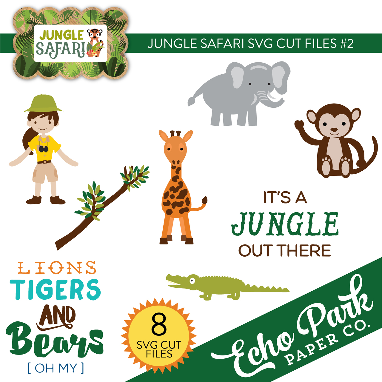 Jungle Safari SVG Cut Files #2