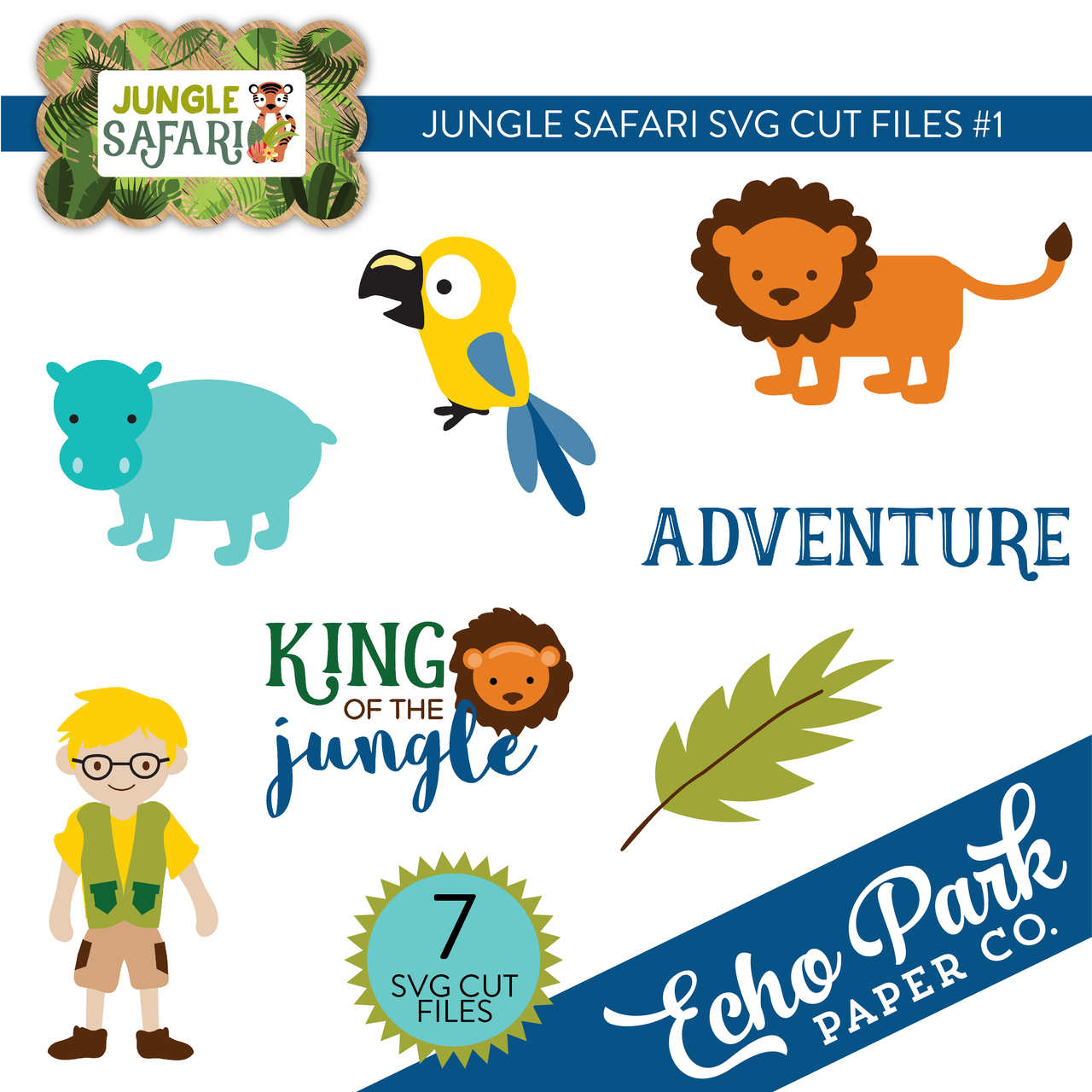 Jungle Safari SVG Cut Files #1