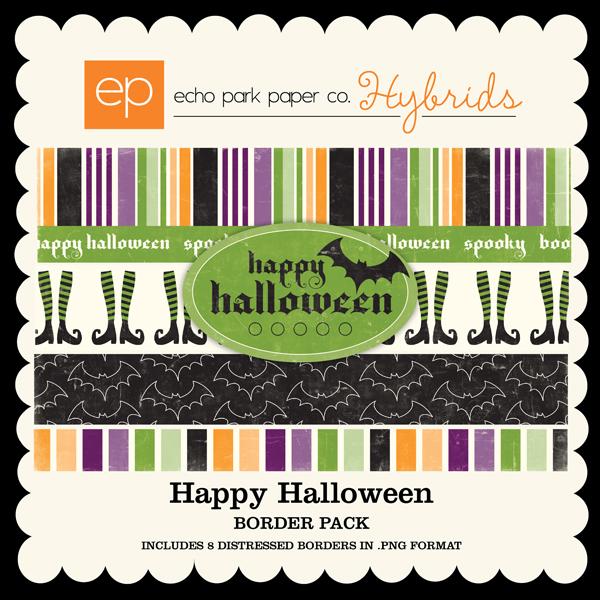 Happy Halloween Border Strips