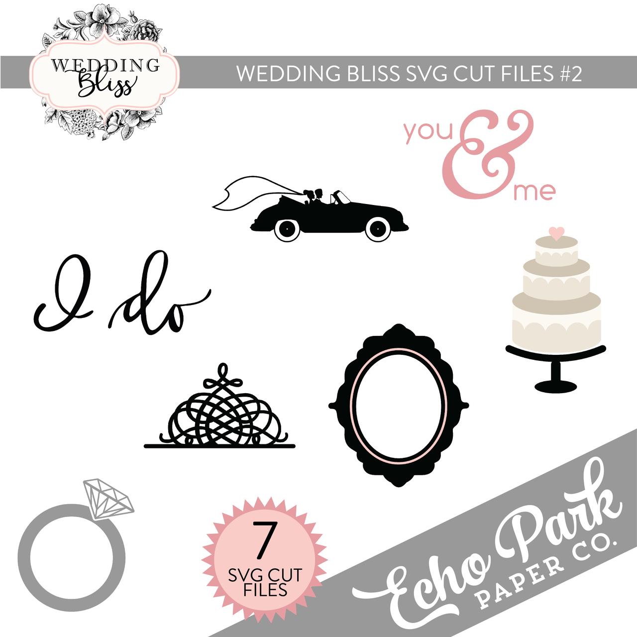 Wedding Bliss SVG Cut Files #2