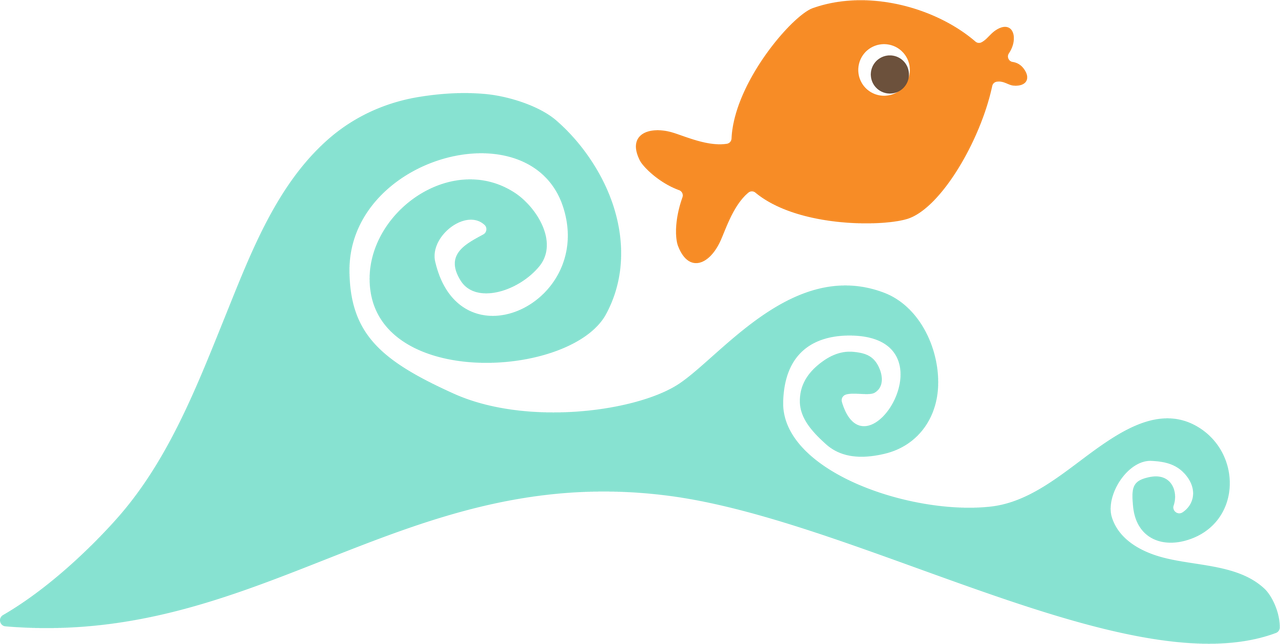 Fish and Wave SVG Cut File