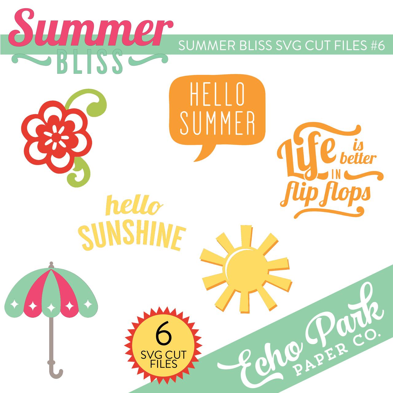 Summer Bliss SVG Cut Files #6
