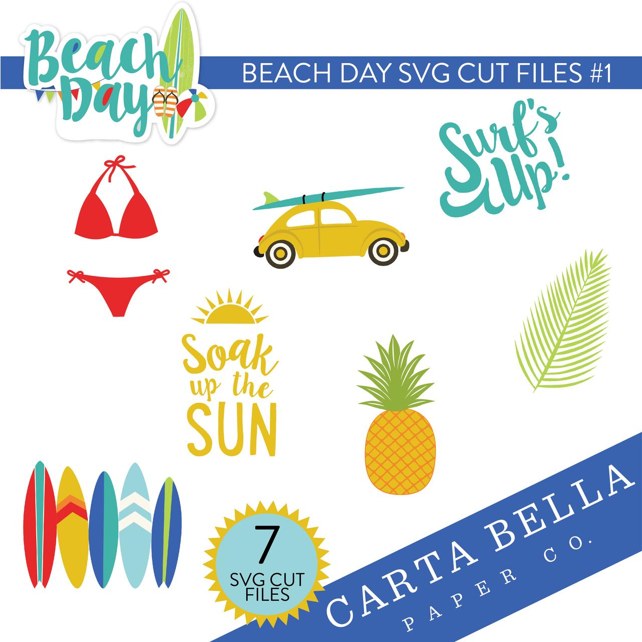 Beach Day SVG Cut Files #1