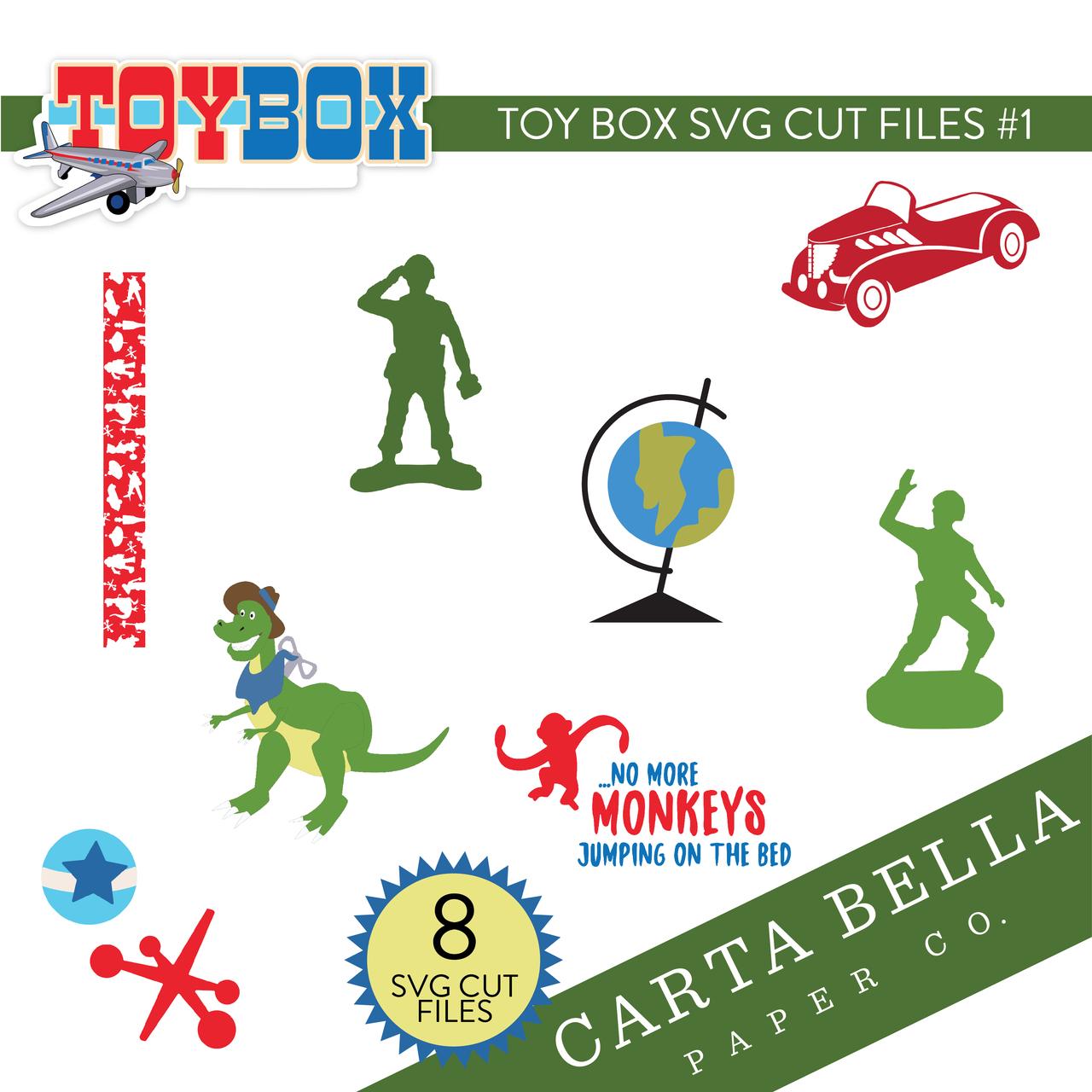Toy Box SVG Cut Files #1