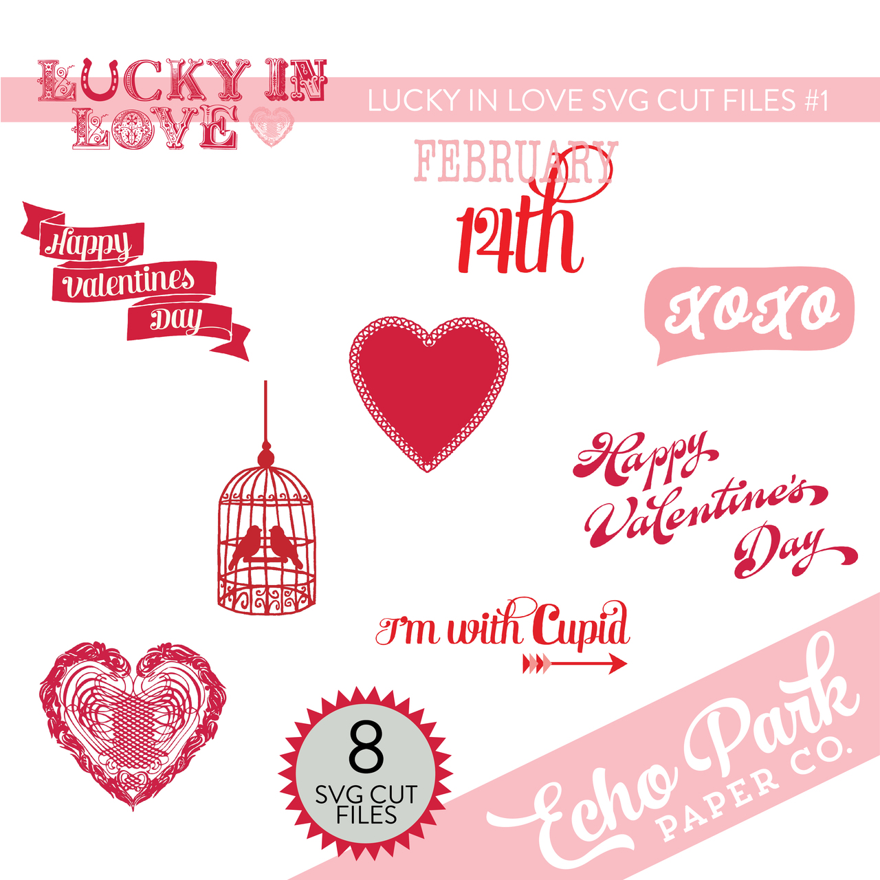 Lucky In Love SVG Cut Files #1