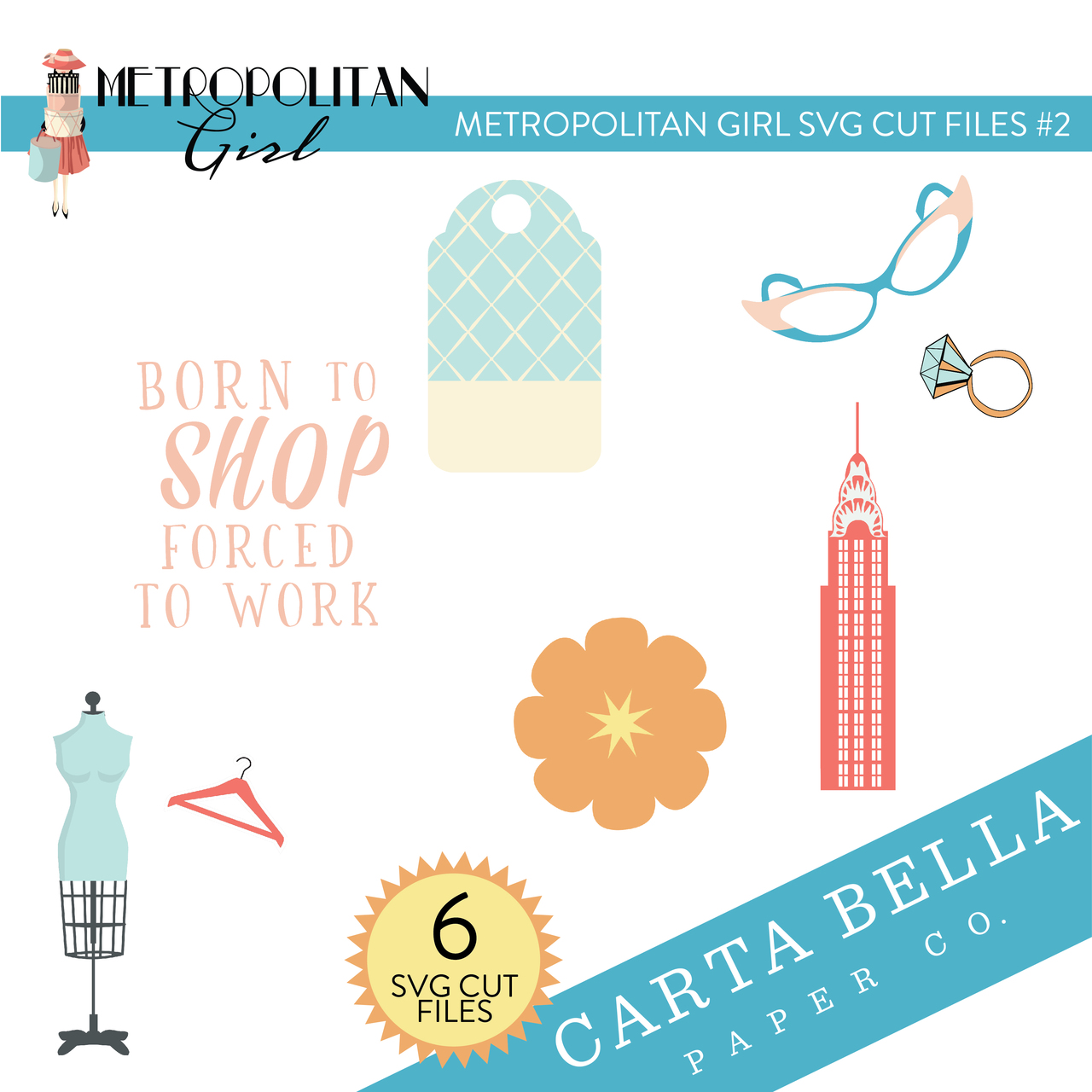 Metropolitan Girl SVG Cut Files #2