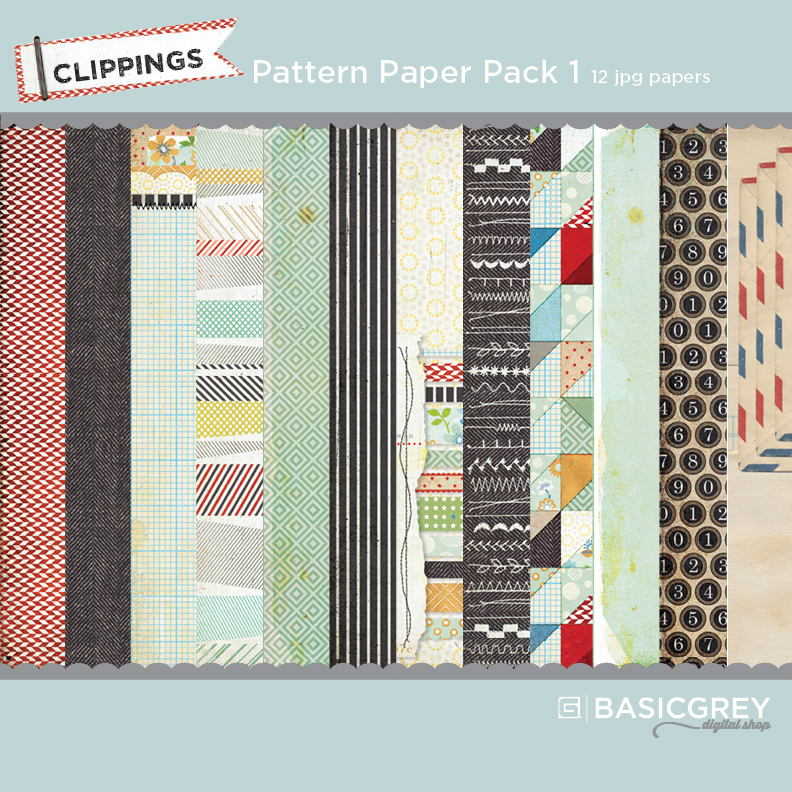 Clippings Pattern Paper Pack 1