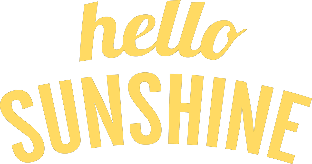 7e812cabf2ae Hello Sunshine SVG Cut File - Snap Click Supply Co.