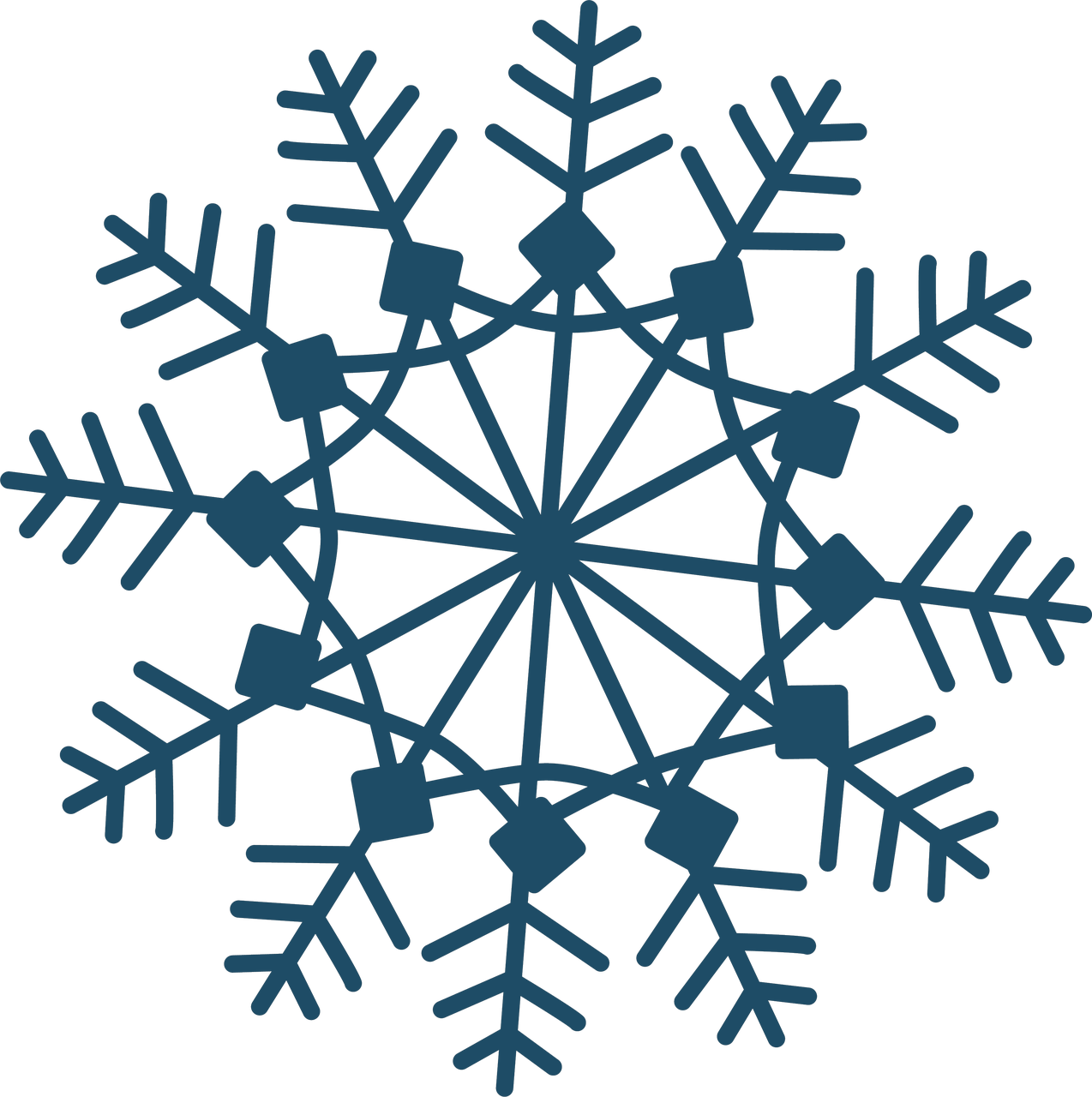 Christmas Snowflake #2 SVG Cut File
