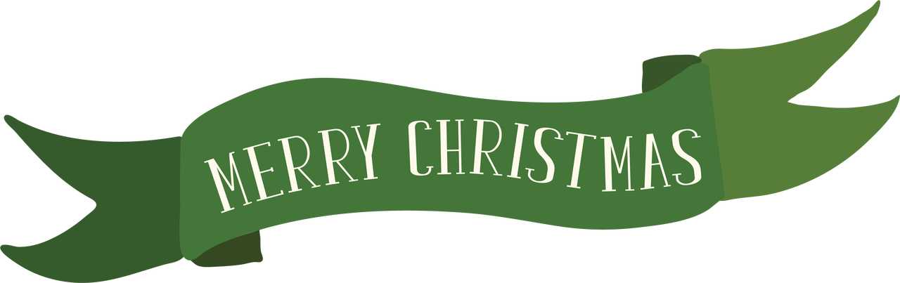 Merry Christmas Banner SVG Cut File