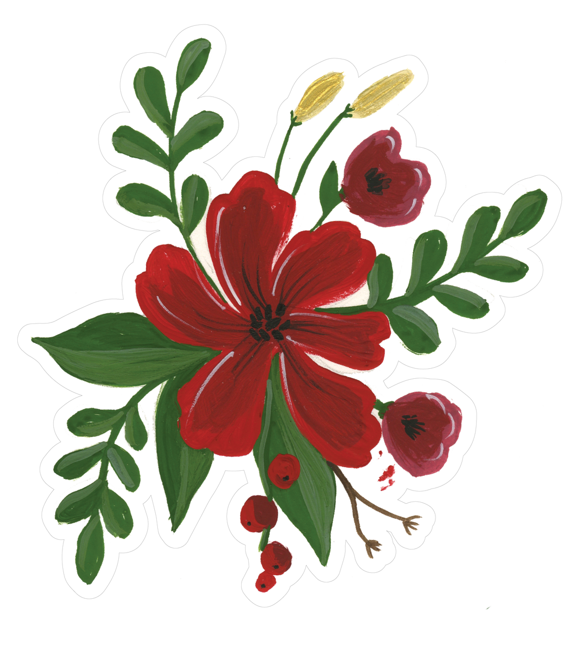 Christmas Flower Bunch Print & Cut File