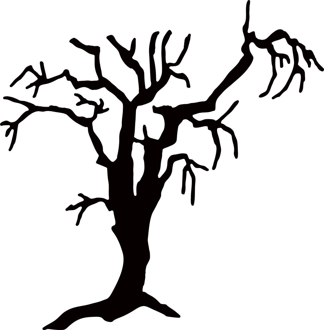 Haunted Tree SVG Cut File