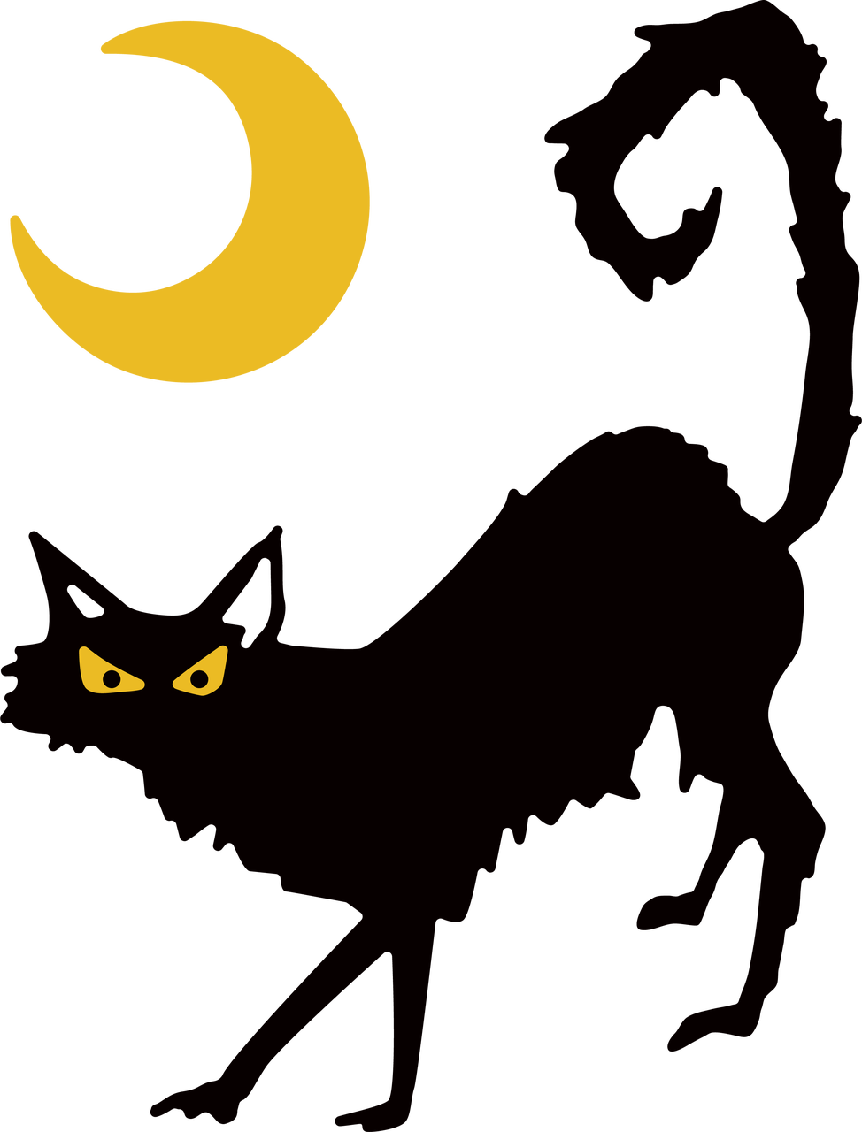 Cat and Moon SVG Cut File