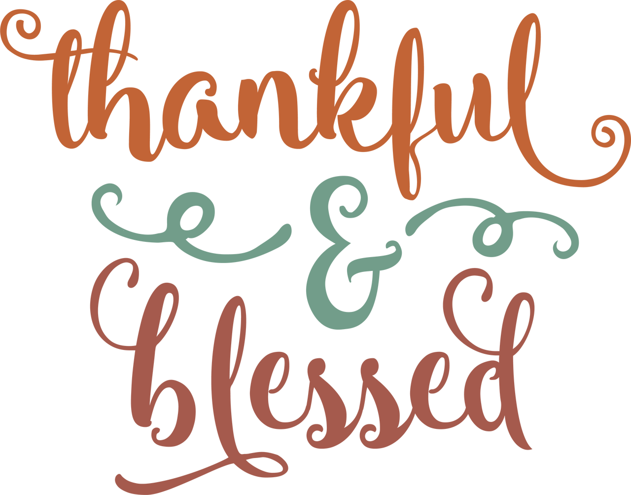 Thankful & Blessed #2 SVG Cut File