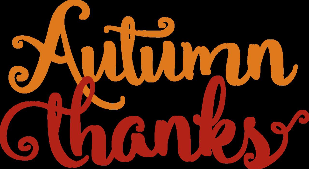 Autumn Thanks SVG Cut File