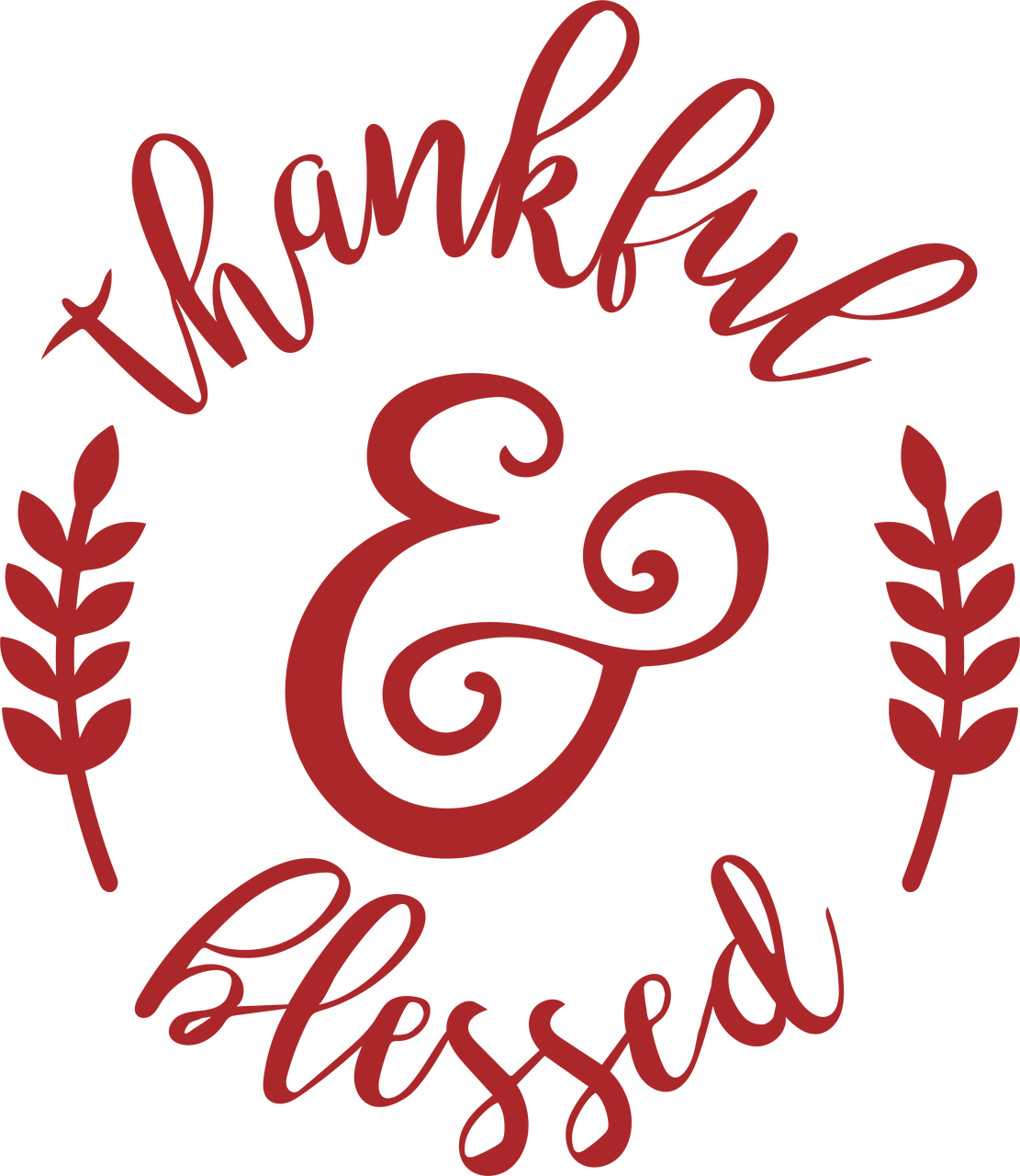 Thankful & Blessed #3 SVG Cut File