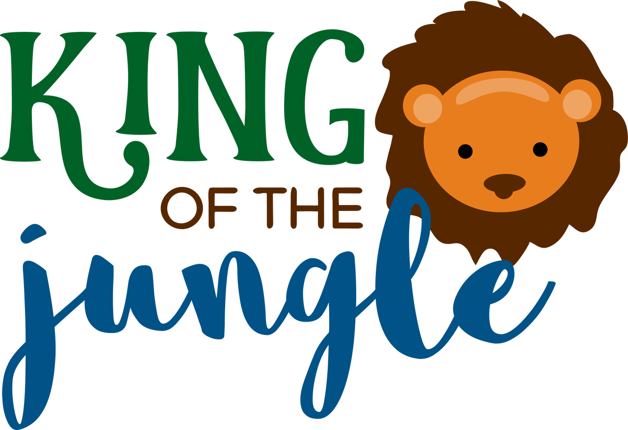 King Of The Jungle SVG Cut File