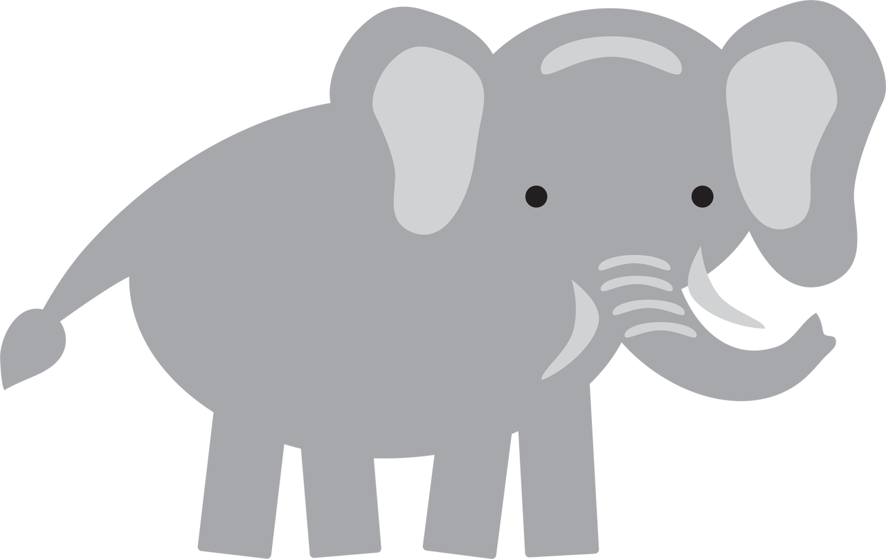 Elephant #2 SVG Cut File