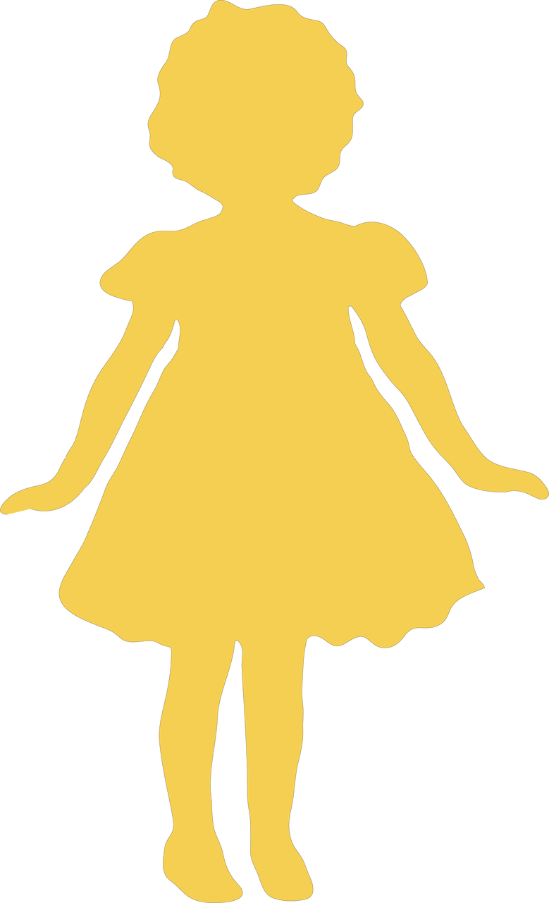 Girl Silhouette #2 SVG Cut File