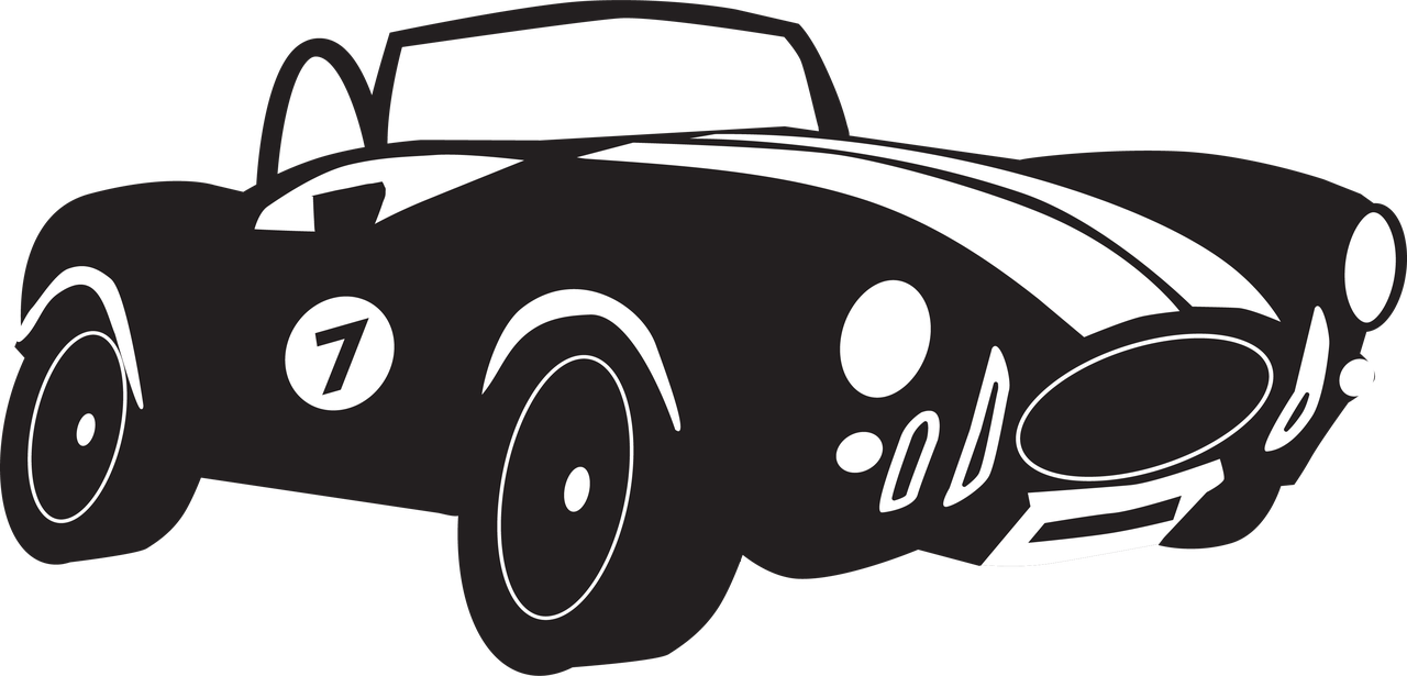 #7 Race Car SVG Cut File