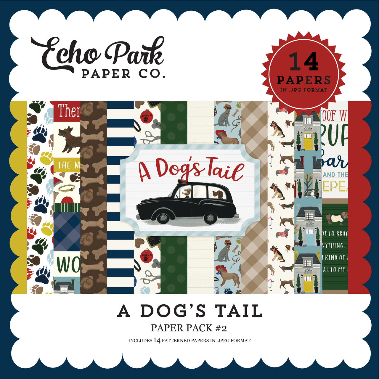 A Dog's Tail Paper Pack #2
