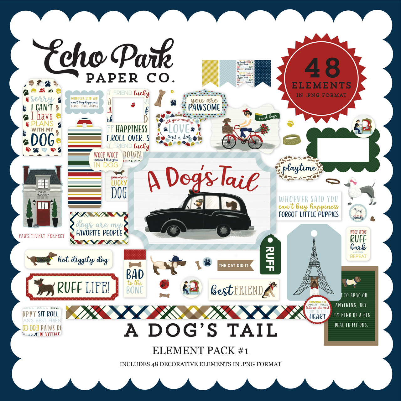 A Dog's Tail Element Pack #1