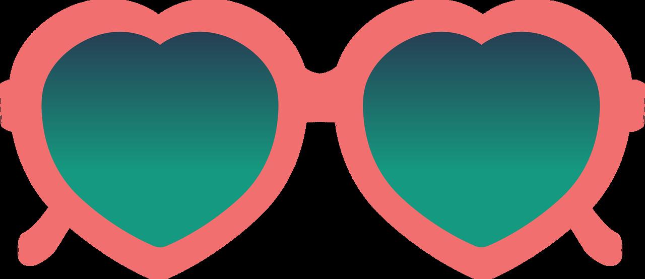 Heart Sunglasses SVG Cut File - Snap Click Supply Co.