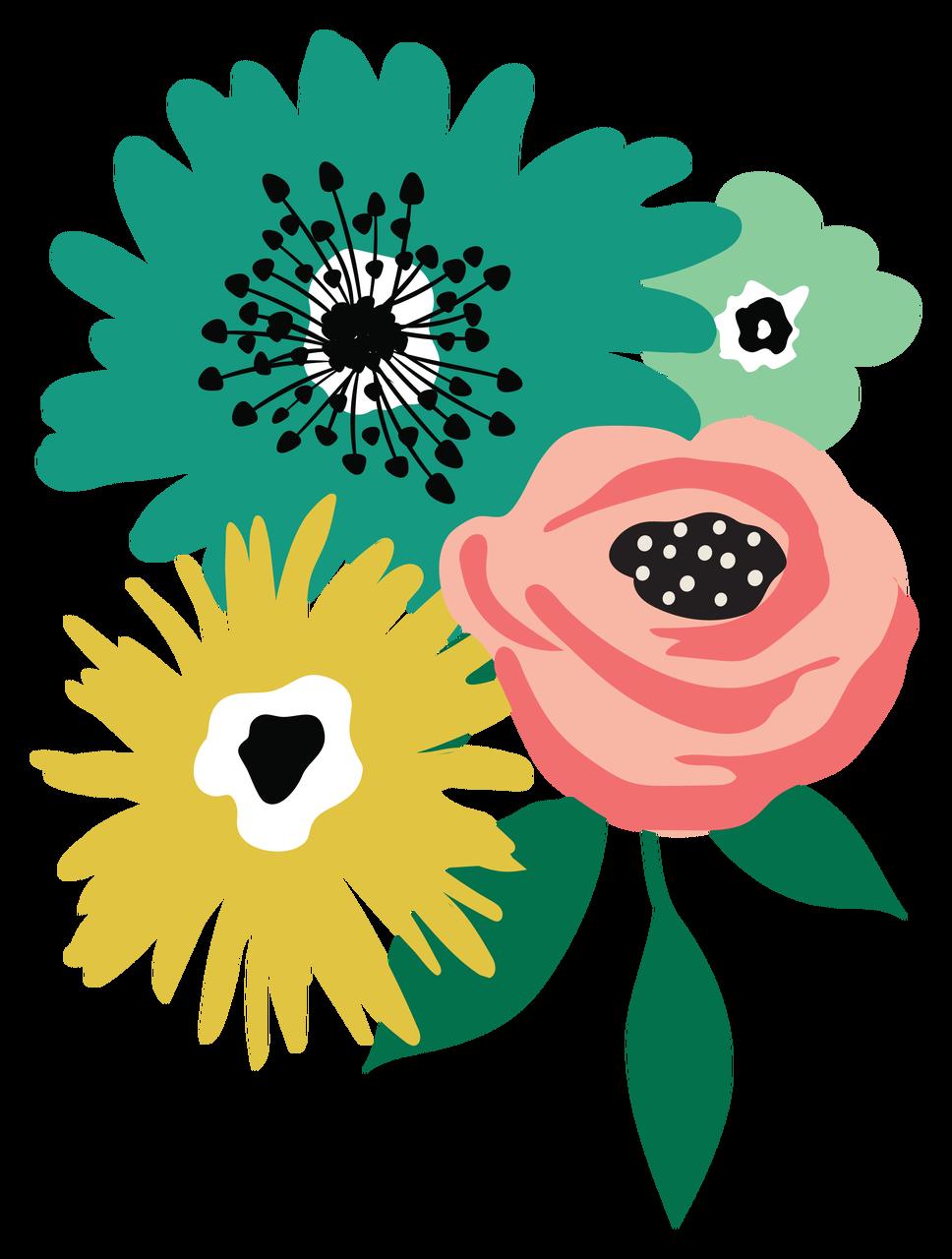Flower Bundle #2 Print & Cut File