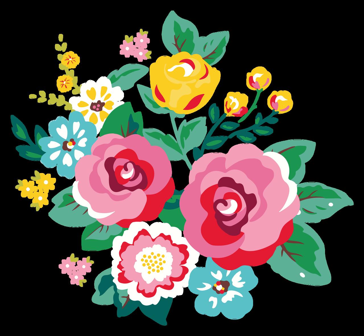 Flower Bunch #2 Print & Cut File