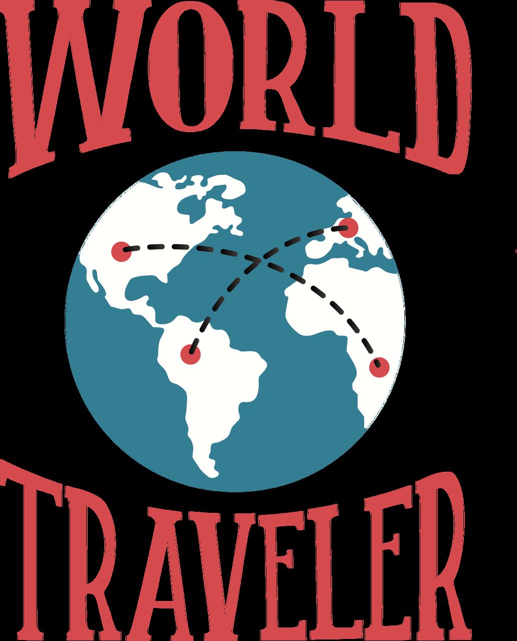 World Traveler SVG Cut File