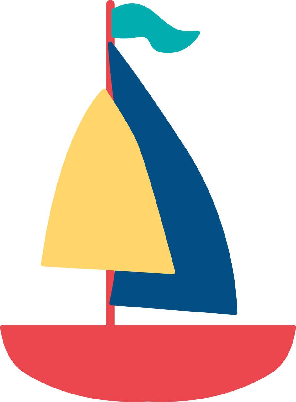 Sailboat #3 SVG Cut File