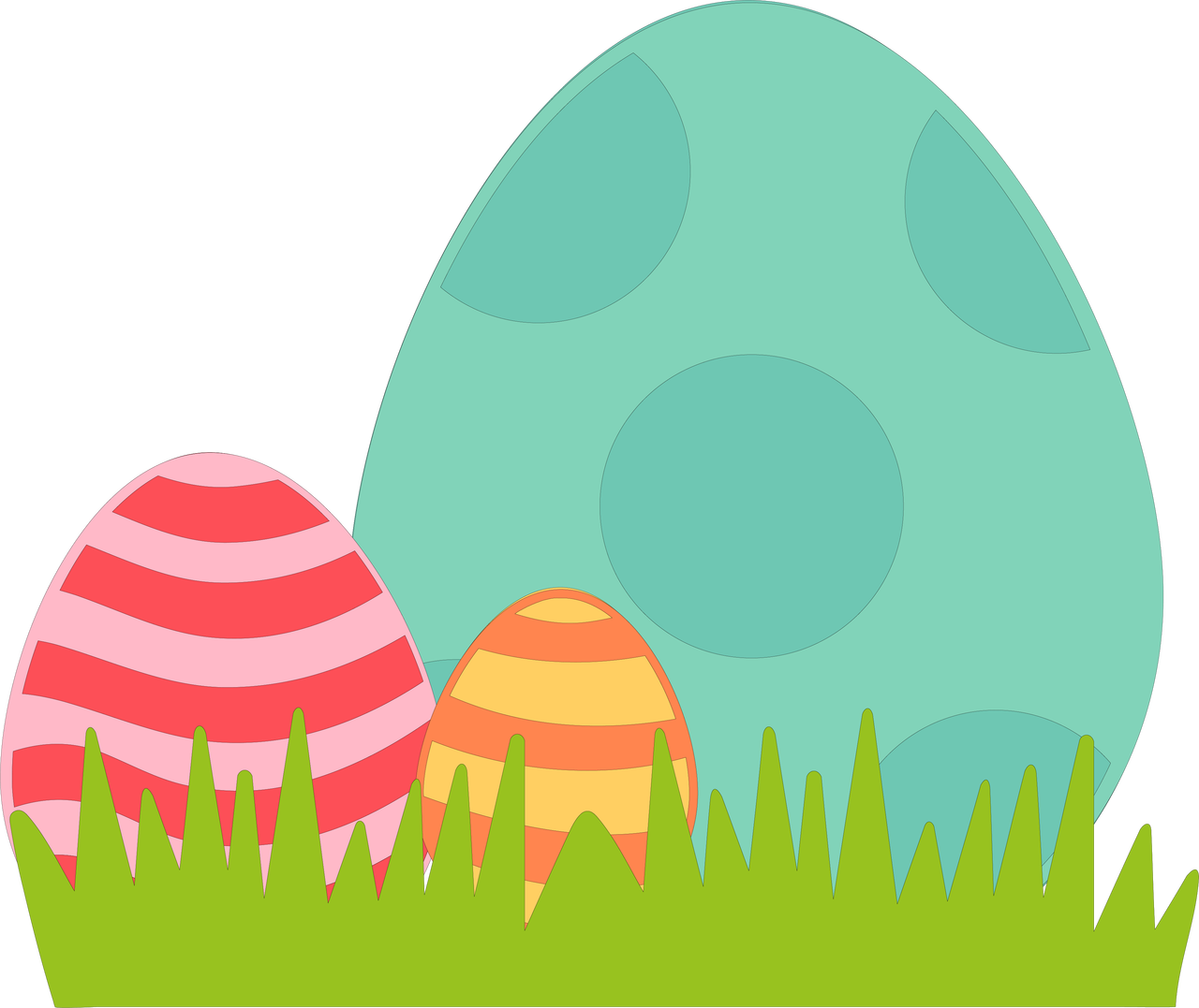 Easter Eggs SVG Cut File