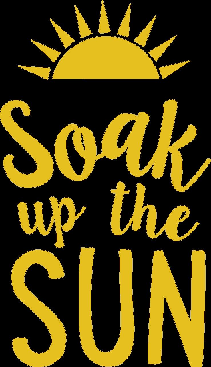 Soak Up The Sun #2 SVG Cut File