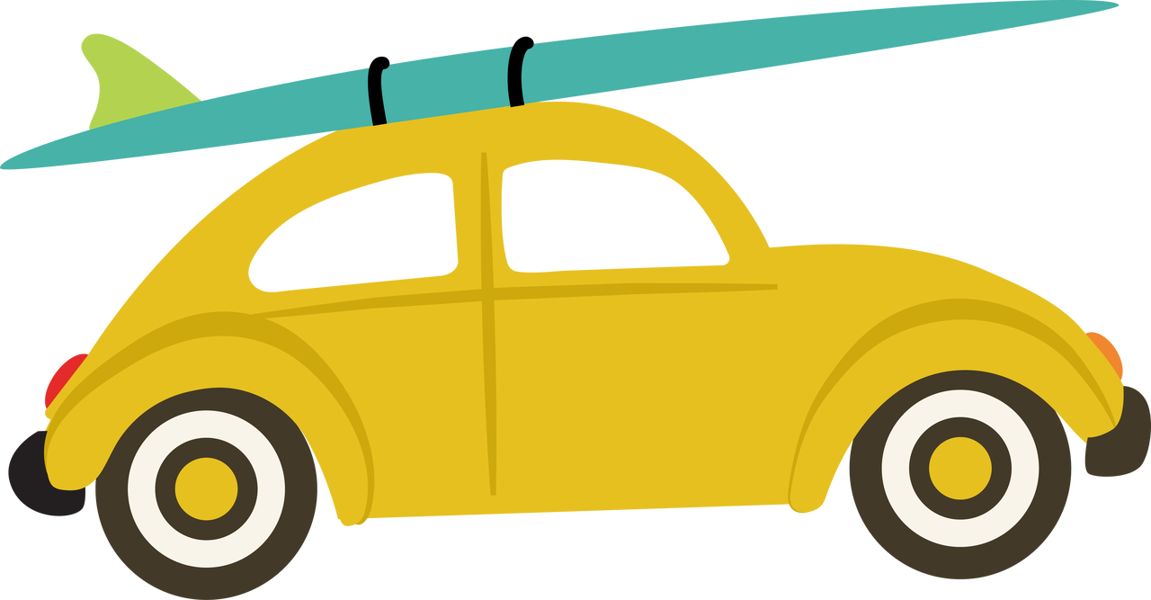 Car and Surfboard SVG Cut File