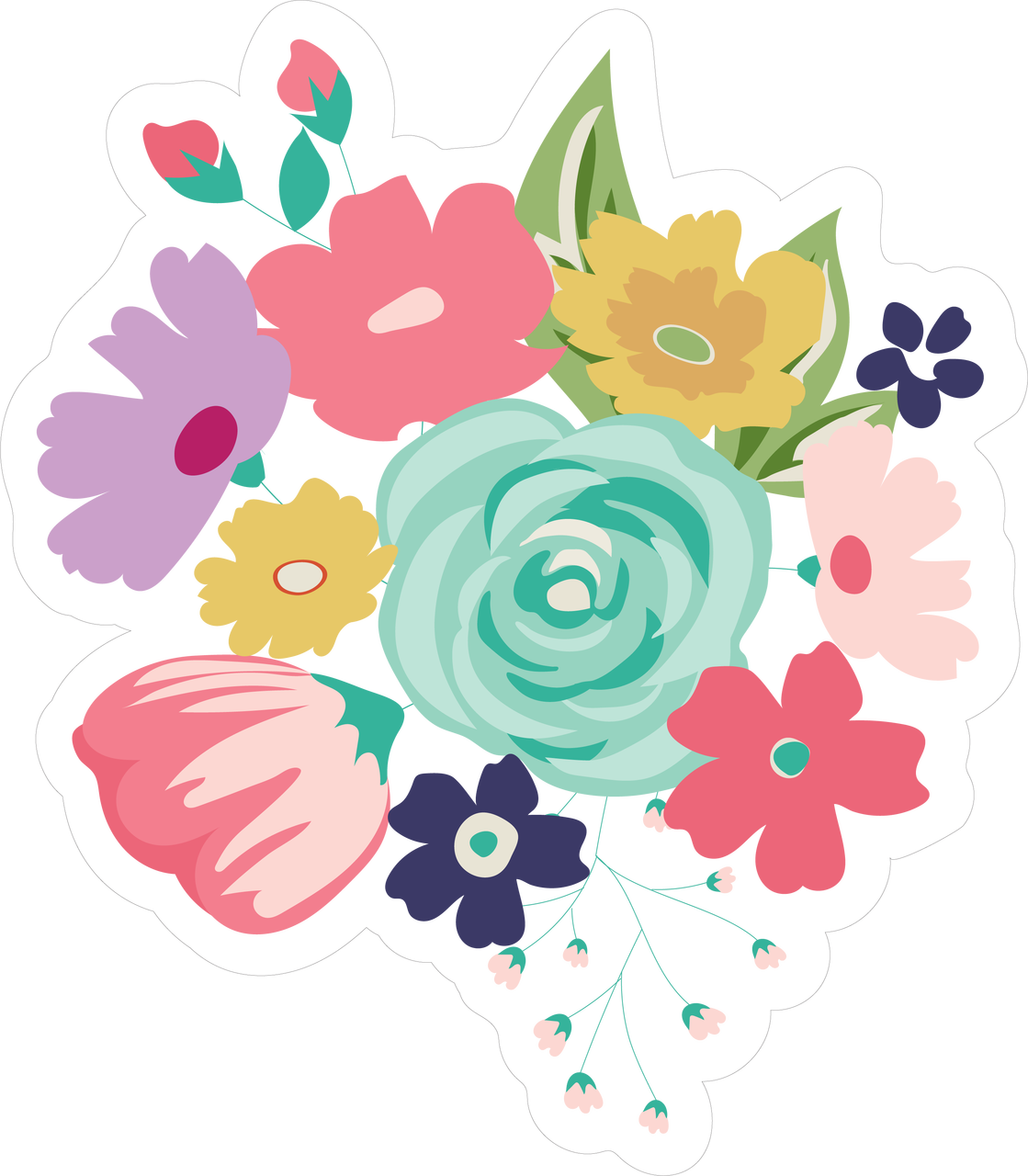 Princess Flower Bundle SVG Cut File