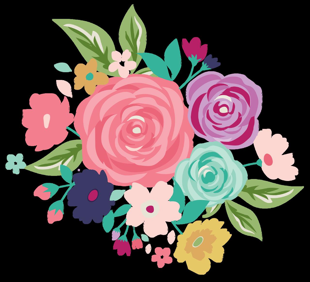 Royal Flower Bundle Print & Cut File