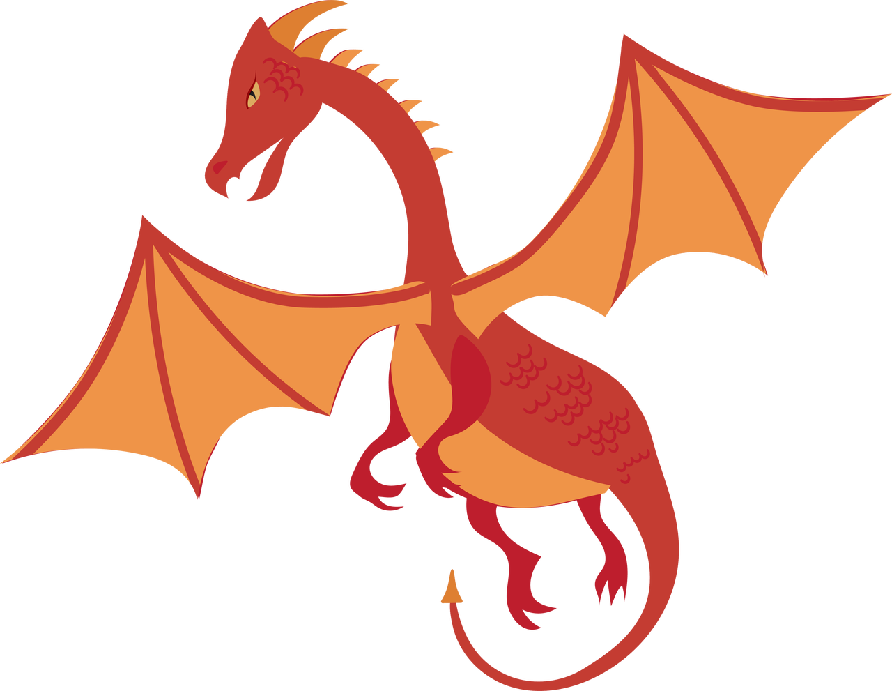 Dragon #2 SVG Cut File