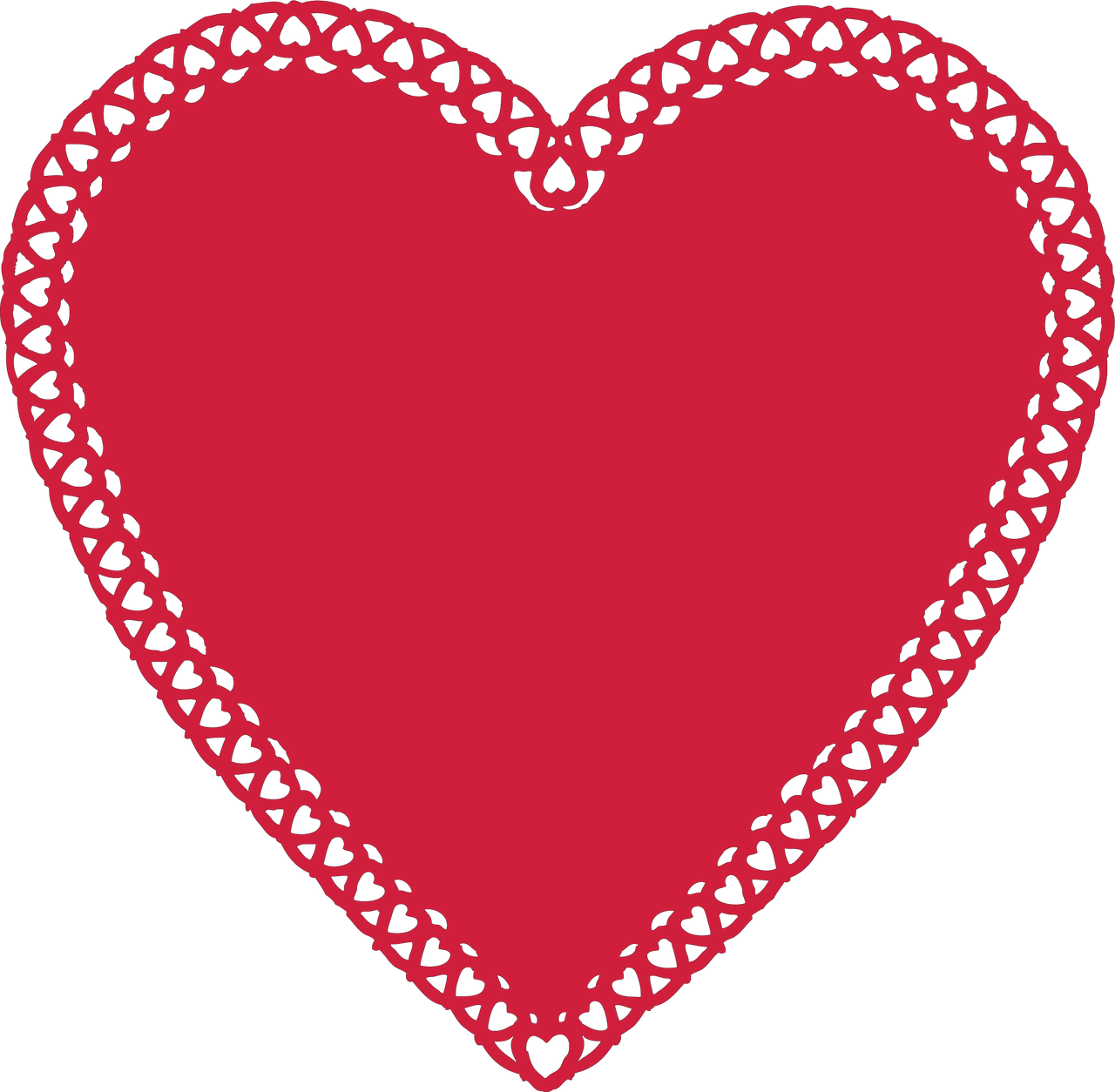 Heart Doily #2 SVG Cut File