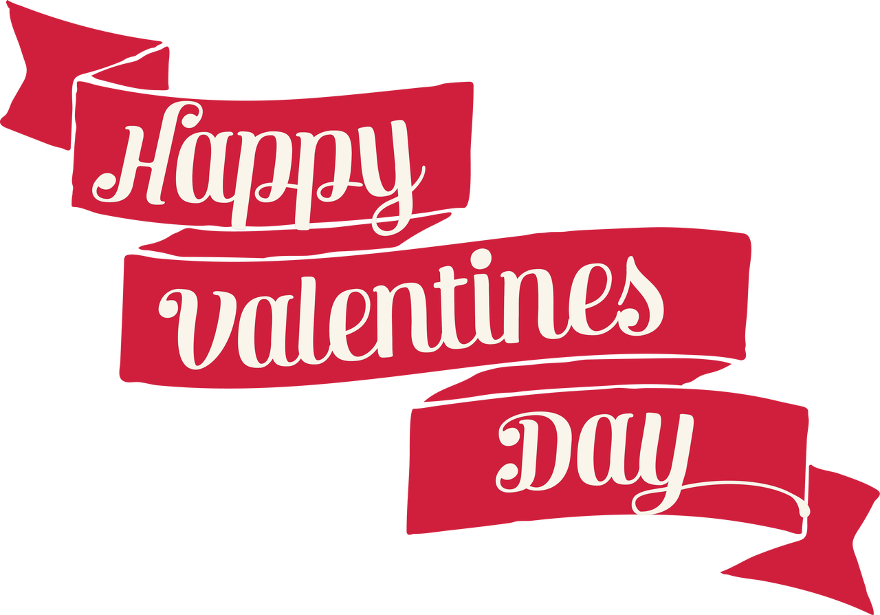 Happy Valentine's Day Banner SVG Cut File - Snap Click ...
