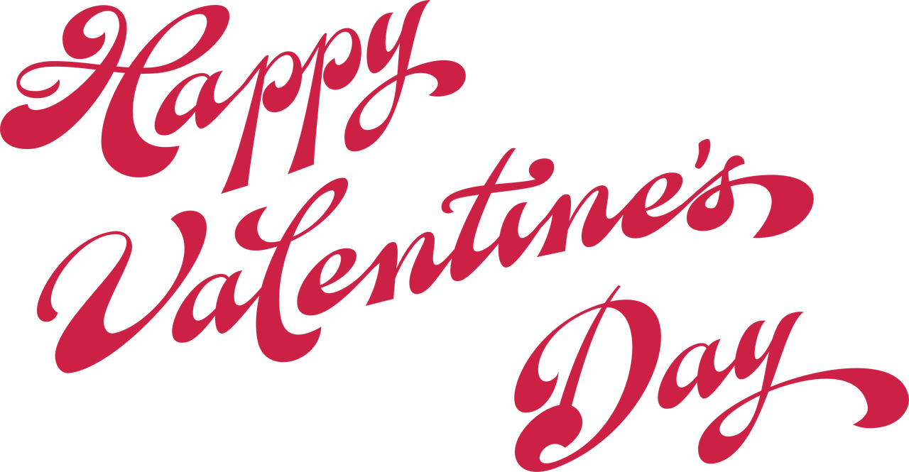 Happy Valentine's Day Words SVG Cut File