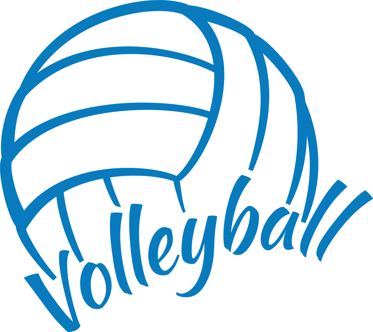 Volleyball SVG Cut File