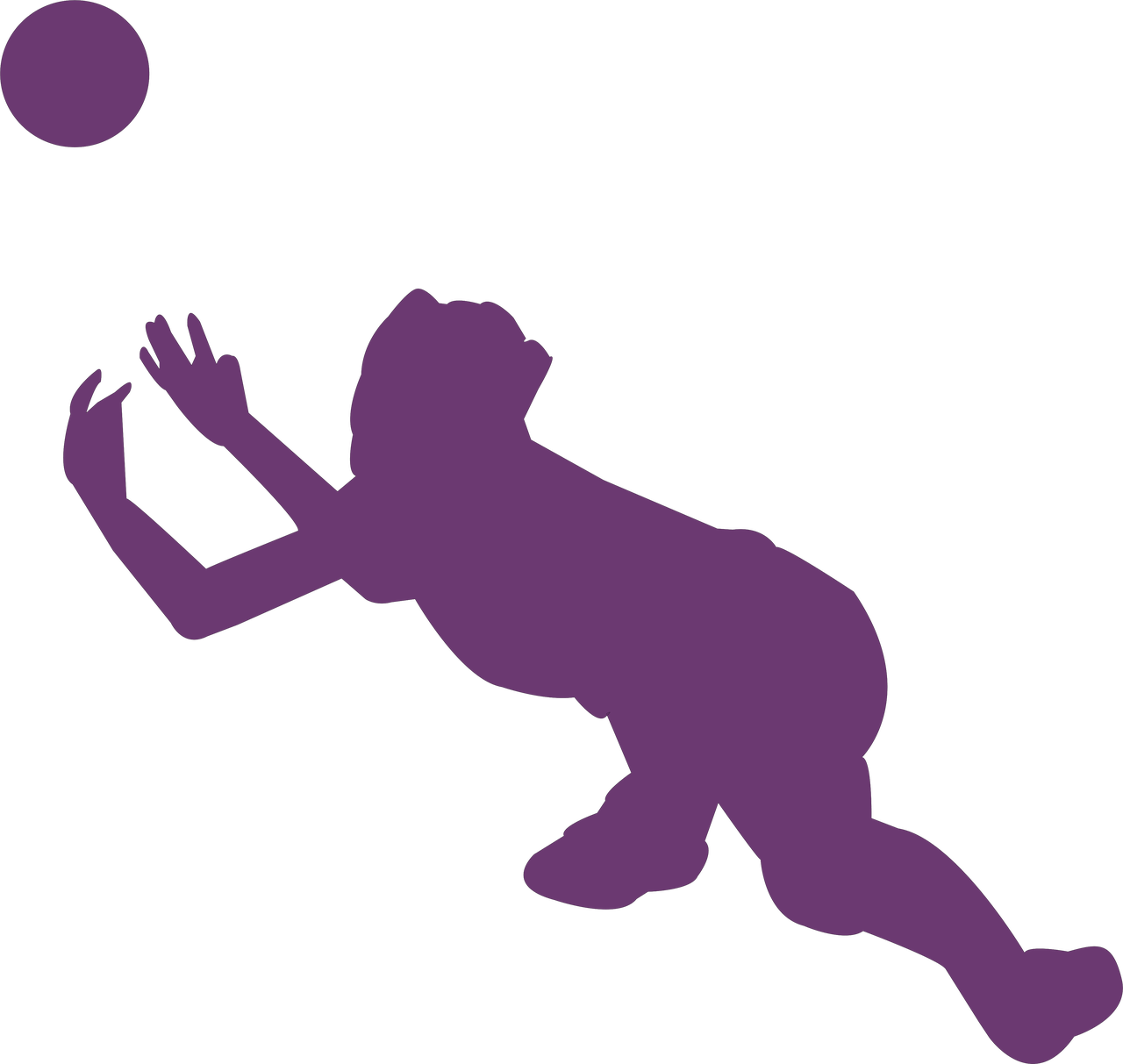 Volleyball Silhouette SVG Cut File