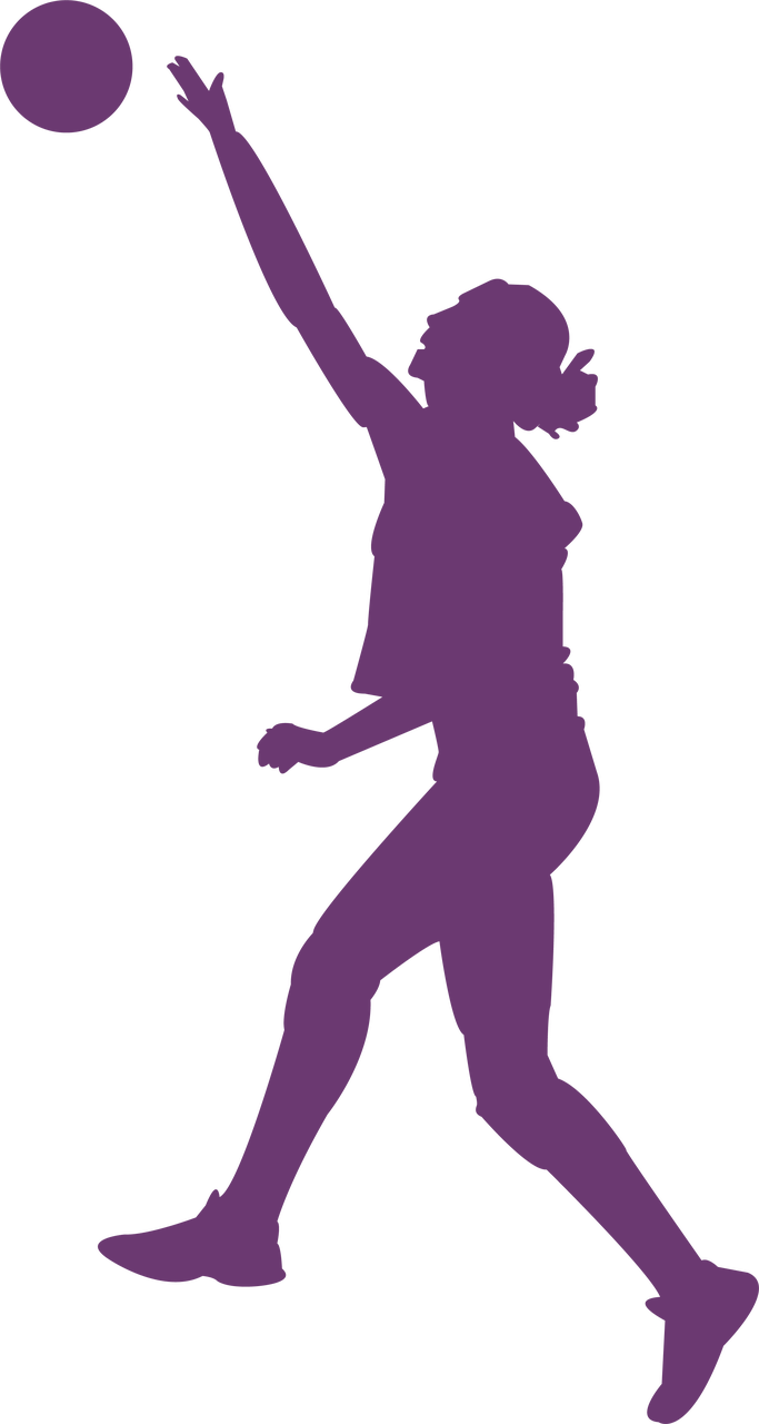 Volleyball Silhouette #2 SVG Cut File